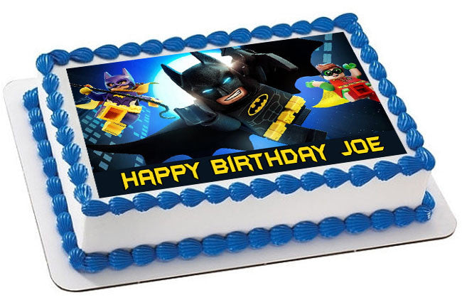 Enjoyable The Lego Batman Movie 2 Edible Cake Topper Cupcake Toppers Personalised Birthday Cards Paralily Jamesorg