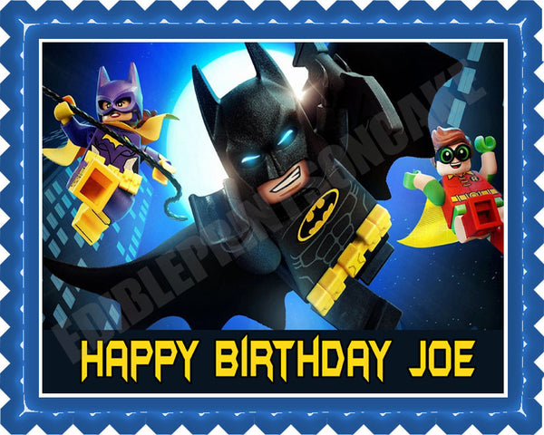 The Lego Batman Movie 2 Edible Cake Topper Amp Cupcake