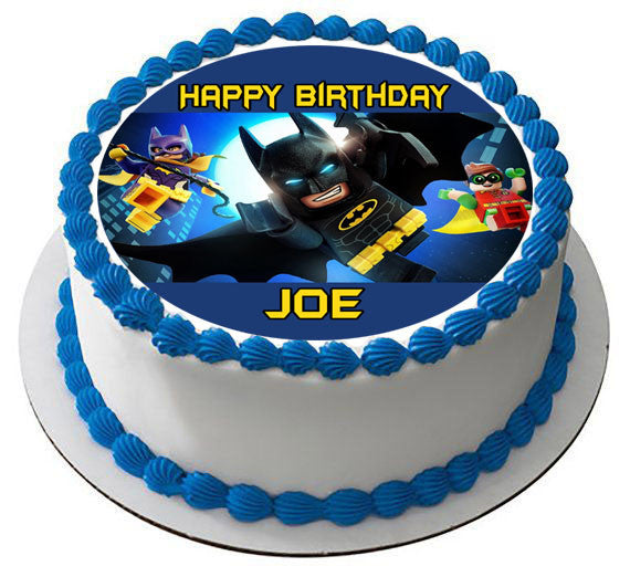 The Lego Batman Movie 2 Edible Birthday Cake Topper OR Cupcake Decor