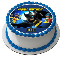 The lego batman movie 2 Edible Birthday Cake Topper OR Cupcake Topper, Decor