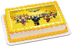 The lego batman movie Edible Birthday Cake Topper OR Cupcake Topper, Decor