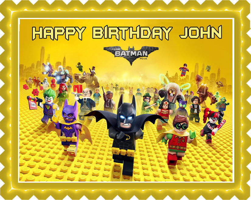 lego batman cake topper the lego batman edible cake topper amp cupcake toppers 5453