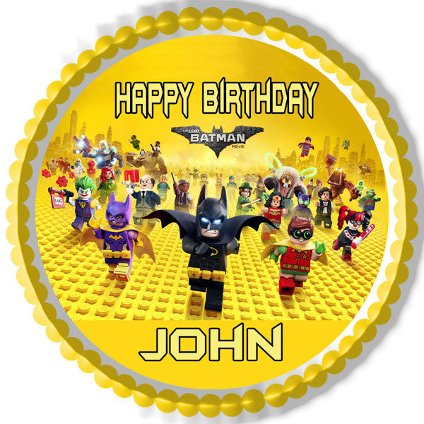 The Lego Batman Movie Edible Cake Topper Amp Cupcake Toppers