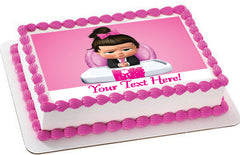 The boss Baby Girl - Edible Cake Topper, Cupcake Toppers, Strips