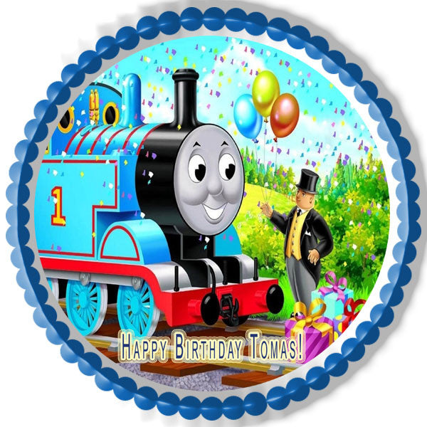 Thomas Train  Edible Birthday Cake Topper Or Cupcake Topper Decor