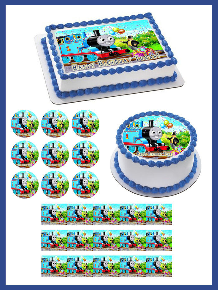 Cake Decor Thomas : Thomas Train 1 Edible Birthday Cake OR Cupcake Topper ...