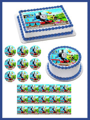 Thomas Train - Edible Cake Topper OR Cupcake Topper, Decor