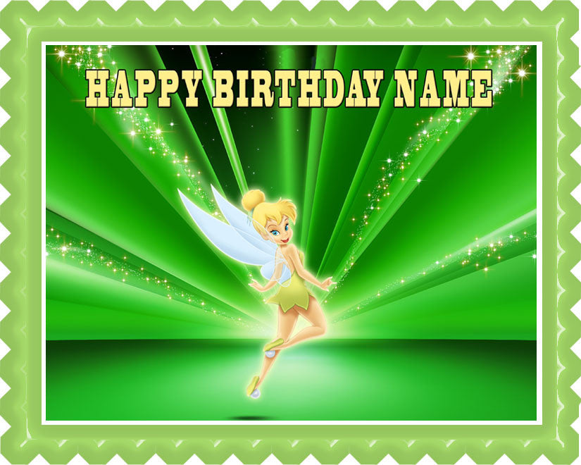 TINKER BELL Edible Birthday Cake OR Cupcake Topper – Edible Prints ...