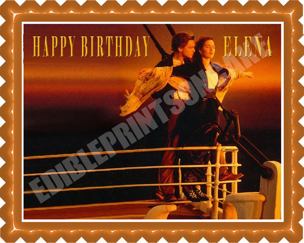 Titanic Edible Cake Topper Amp Cupcake Toppers Edible