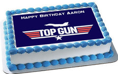 Top Gun - Edible Cake Topper OR Cupcake Topper, Decor