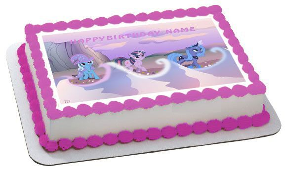 MY LITTLE PONI 3 Edible Birthday Cake Topper OR Cupcake Decor