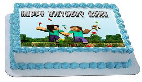 MINECRAFT Characters 7 Edible Birthday Cake Topper OR Cupcake Topper, Decor