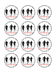 Track and Field Athletes - Edible Cake Topper, Cupcake Toppers, Strips