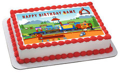TRAIN  Edible Birthday Cake Topper OR Cupcake Topper, Decor