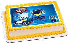Transformers Rescue Bots 5 Edible Birthday Cake Topper OR Cupcake Topper, Decor - Edible Prints On Cake (Edible Cake &Cupcake Topper)