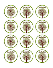 Tree Nature Symbol - Edible Cake Topper, Cupcake Toppers, Strips
