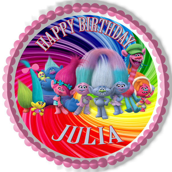 Trolls Edible Cake Topper Amp Cupcake Toppers Edible