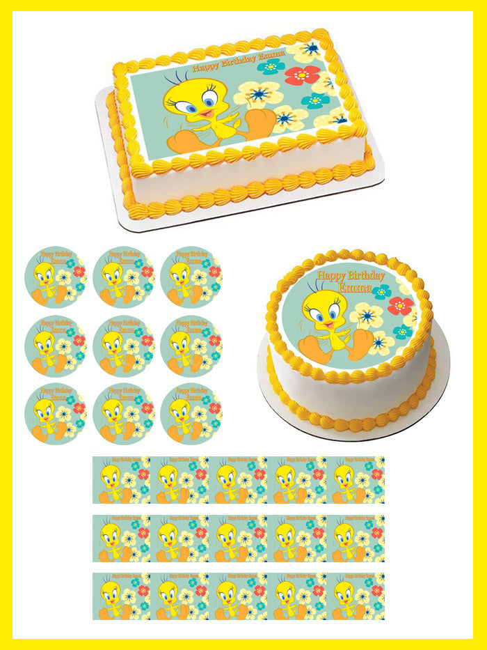 Tweety Bird Edible Cake Topper