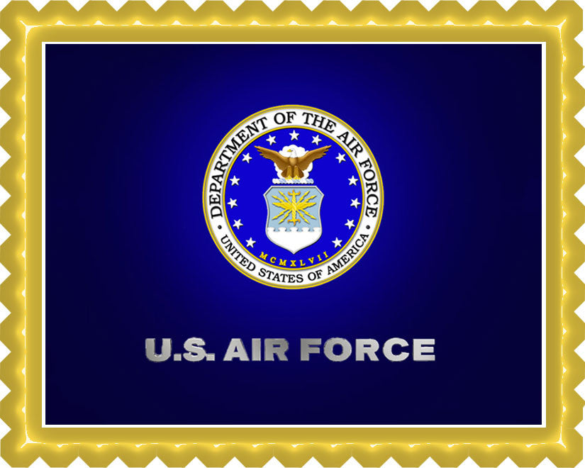 US Air Force Edible Birthday Cake Topper OR Cupcake Topper, Decor