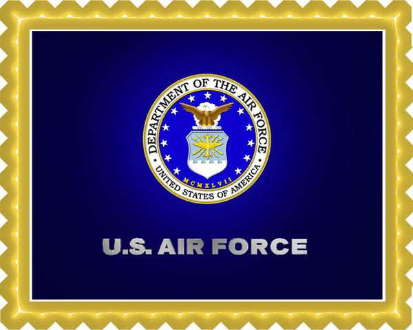 US Air Force Edible Birthday Cake OR Cupcake Topper ...