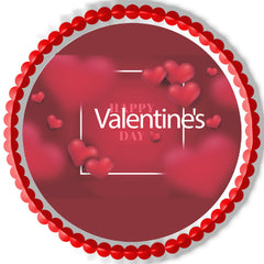 Valentine`s Day (Nr2) - Edible Cake Topper, Cupcake Toppers, Strips