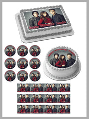 VAMPIRE DIARIES Edible Birthday Cake Topper OR Cupcake Topper, Decor