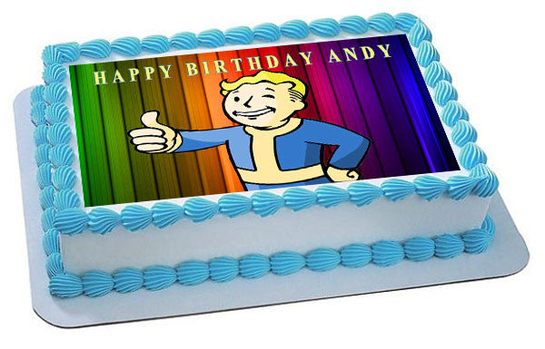 Vault Boy Edible Cake Topper Cupcake Toppers Edible Prints On