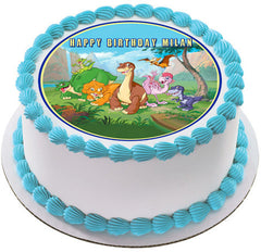 The Land Before Time Edible Birthday Cake Topper OR Cupcake Topper, Decor
