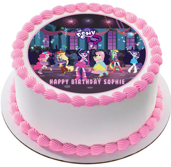 My Little Pony Equestria Girls Edible Birthday Cake OR Cupcake