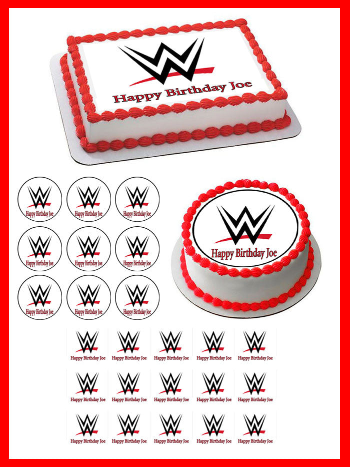 Marvelous Wwe Edible Cake Topper Cupcake Toppers Edible Prints On Cake Funny Birthday Cards Online Alyptdamsfinfo