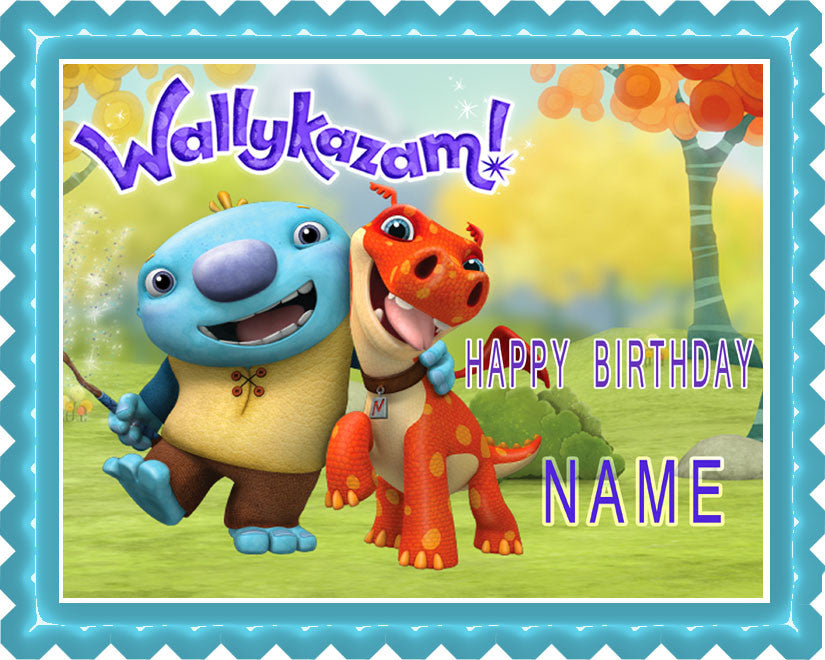 Wallykazam Edible Birthday Cake Topper OR Cupcake Topper, Decor