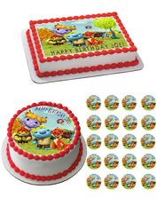 Wallykazam Norville Bobgoblin Wally Characters Edible Birthday Cake Topper OR Cupcake Topper, Decor