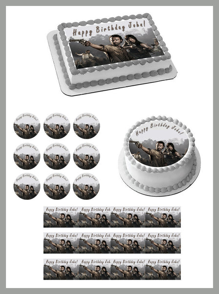The Walking Dead 1 Edible Birthday Cake Or Cupcake Toppe