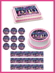 My Little Pony Equestria Girls Edible Birthday Cake Topper OR Cupcake Topper, Decor - Edible Prints On Cake (Edible Cake &Cupcake Topper)