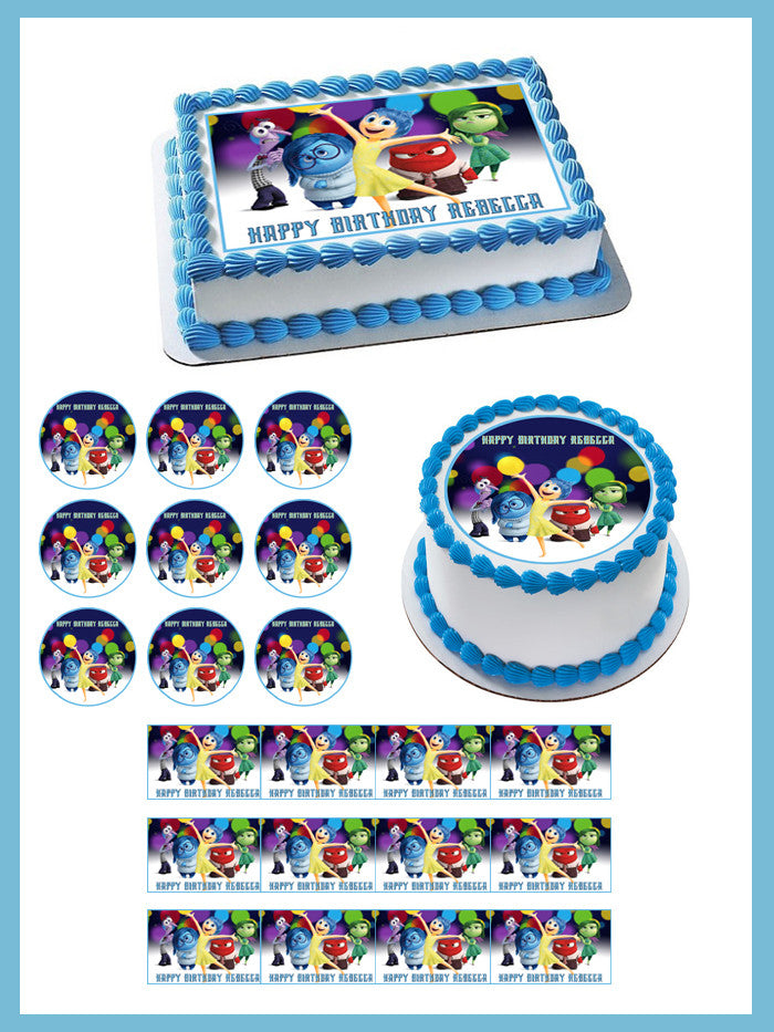 It is an image of Zany Inside Out Cupcake Toppers