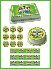Skylanders Swap Force 2 Edible Birthday Cake Topper OR Cupcake Topper, Decor - Edible Prints On Cake (Edible Cake &Cupcake Topper)
