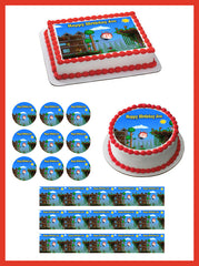 Terraria (Nr1) - Edible Cake Topper OR Cupcake Topper, Decor
