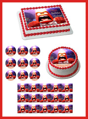 Inside Out Anger 4 Edible Birthday Cake Topper OR Cupcake Topper, Decor - Edible Prints On Cake (Edible Cake &Cupcake Topper)
