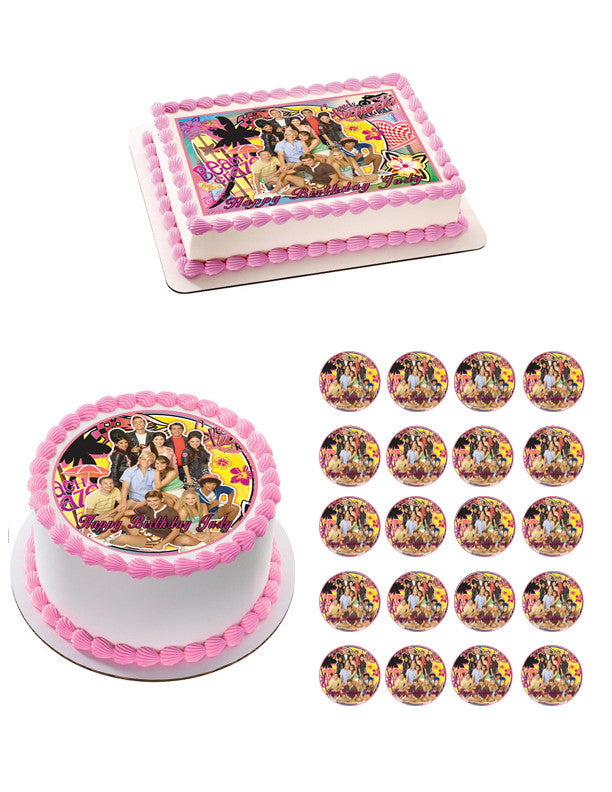 Teen Beach Movie Edible Birthday Cake Or Cupcake Toppe Edible