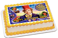 Willy Wonka - Edible Cake Topper OR Cupcake Topper, Decor