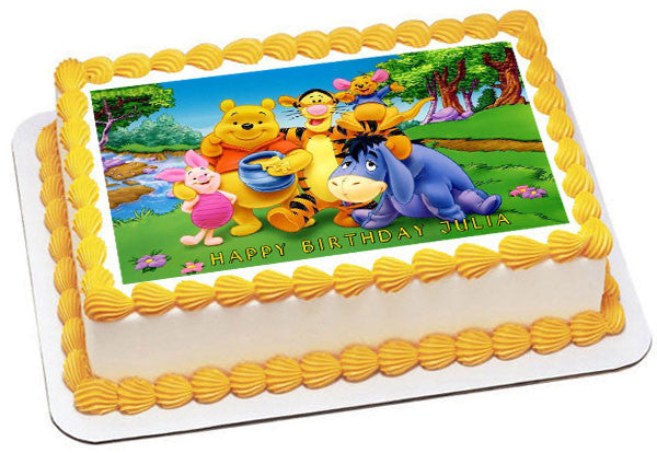 Winnie Pooh 1 Edible Birthday Cake Or Cupcake Topper
