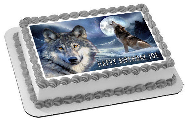 Wolf Edible Cake Topper