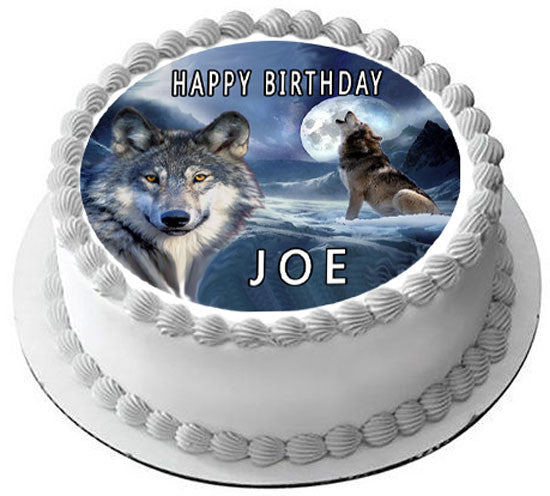 Wolf 2 Edible Birthday Cake Topper Or Cupcake Decor