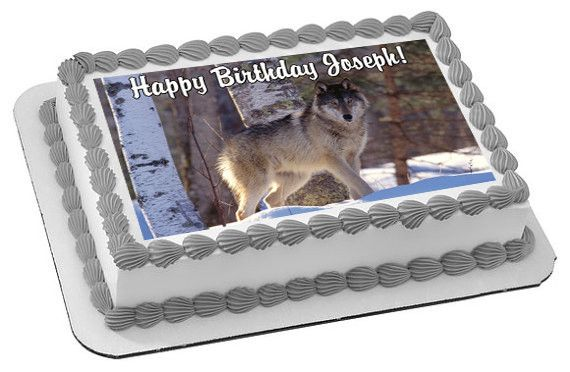 Wolf Edible Cake Topper Edible Prints On Cake Epoc