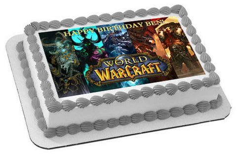 WORLD OF WARCRAFT - Edible Cake Topper OR Cupcake Topper, Decor