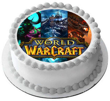 World Of Warcraft Edible Birthday Cake Edible Prints On