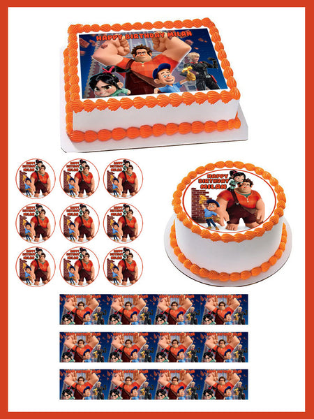 Wreck It Ralph Edible Cake Topper Or Cupcake Toppers
