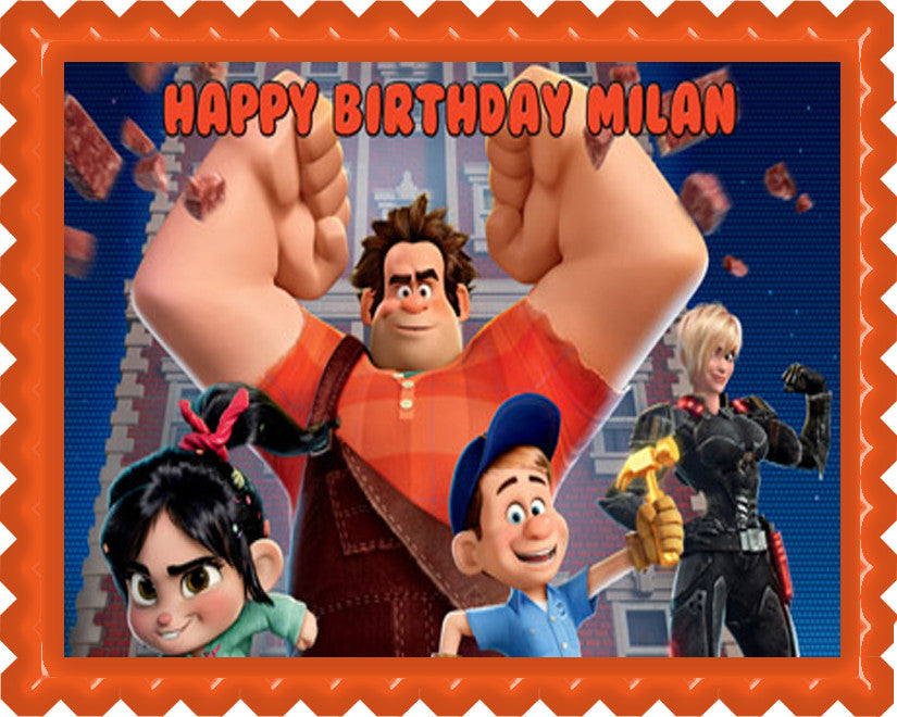 Wreck It Ralph - Edible Cake Topper OR Cupcake Topper, Decor