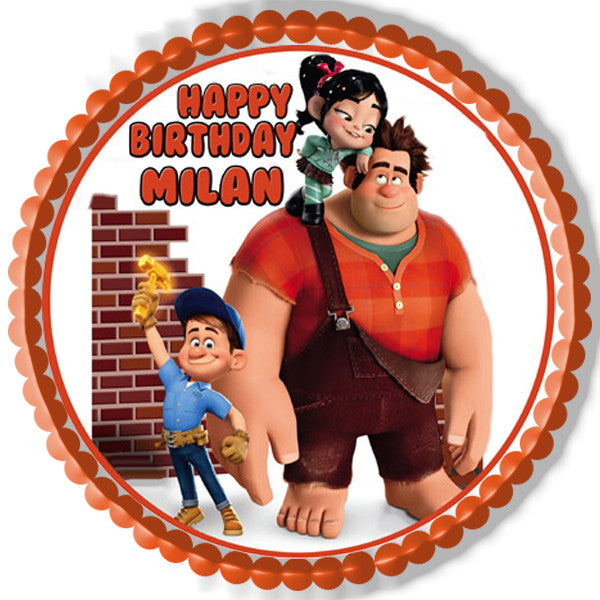 Wreck It Ralph Edible Cake Topper Amp Cupcake Toppers