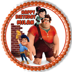 Wreck It Ralph Edible Birthday Cake Topper OR Cupcake Topper, Decor - Edible Prints On Cake (Edible Cake &Cupcake Topper)